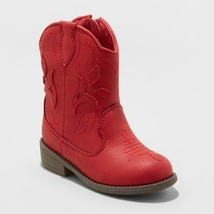 Cat & Jack Size 5 Red Boots